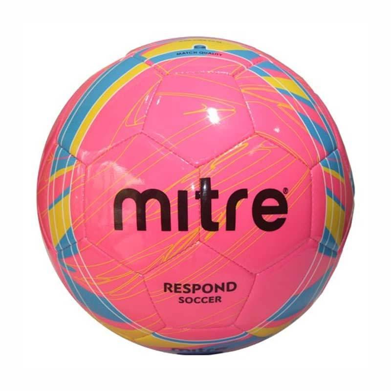 Mitre Soccer Ball Respond - Bola Sepak No. 5 Pink