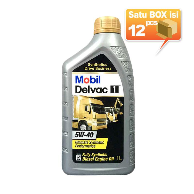 Paket Karton -  Mobil Delvac 1 5W-40 Botol