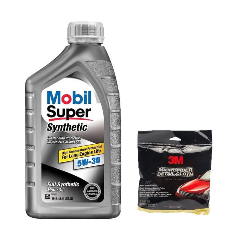 Promo Mobil Super Synthetic 5W/30 [1 L] + Free 3M Microfibre Detailing Cloth