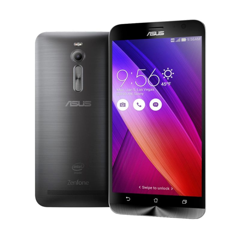 Asus Zenfone 2 ZE551ML Black Smartphone [4GB/32GB] free illusion cover + zen flash