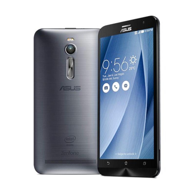 Asus Zenfone 2 ZE551ML Silver Smartphone [4GB/32GB] free illusion cover + zen flash