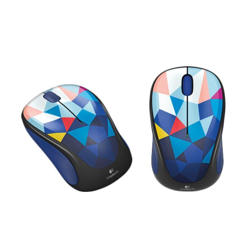 Logitech M238 Pattern Blue Wireless Mouse
