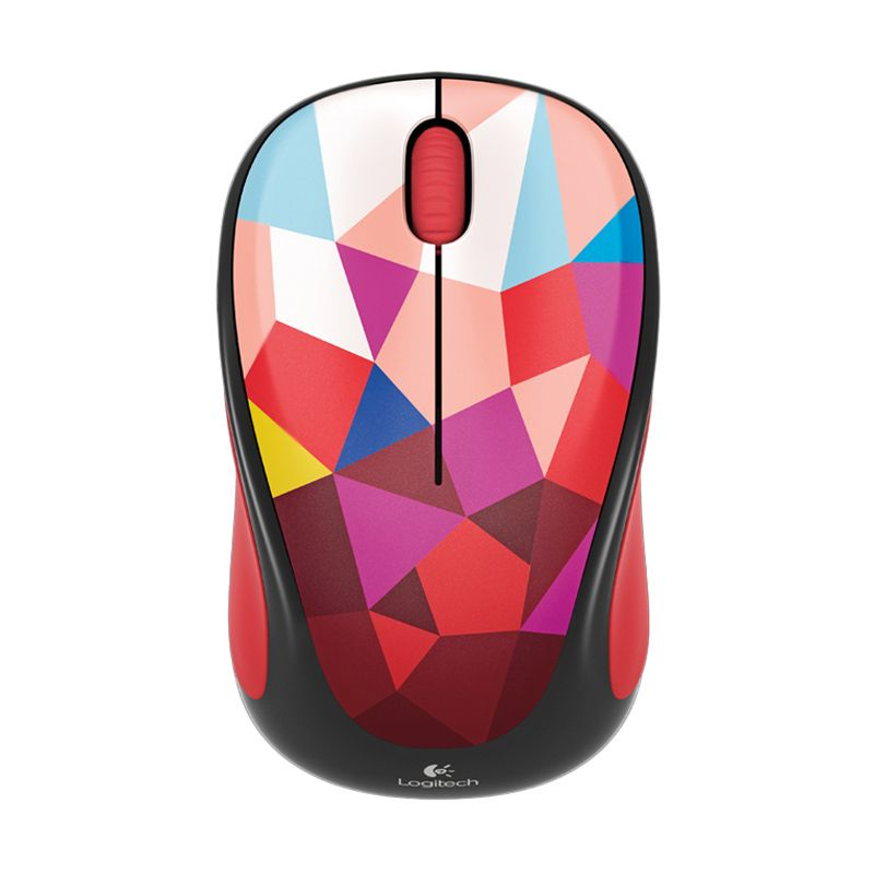 Logitech M238 Red Pattern Wireless Mouse