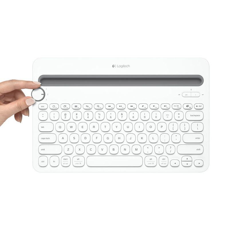 Logitech Multi Device K480 White Bluetooth Keyboard
