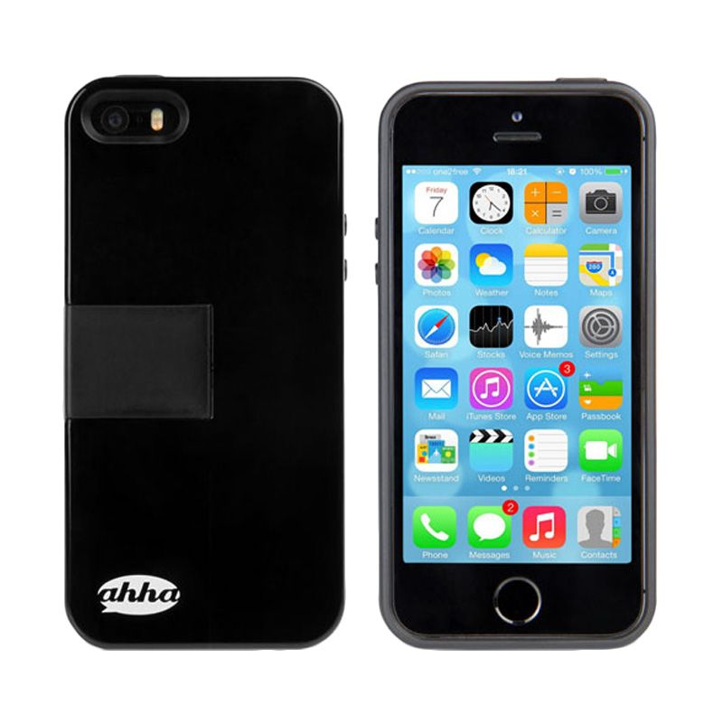 Ahha Archer Kickstand Black Dark Grey Casing for iPhone 5S