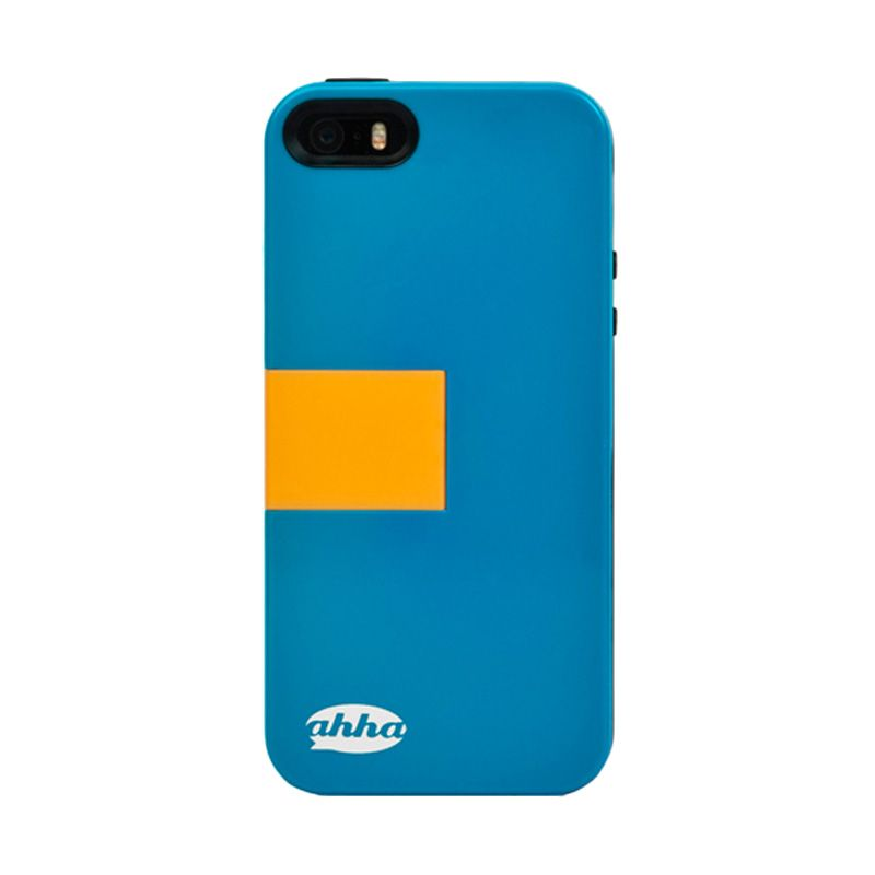 Ahha Archer Kickstand Blue Yellow Casing for iPhone 5S