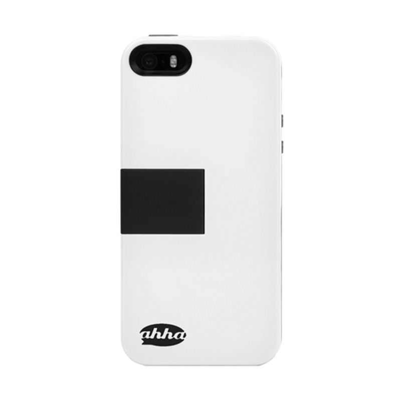 Ahha Archer Kickstand White Black Casing for iPhone 5S