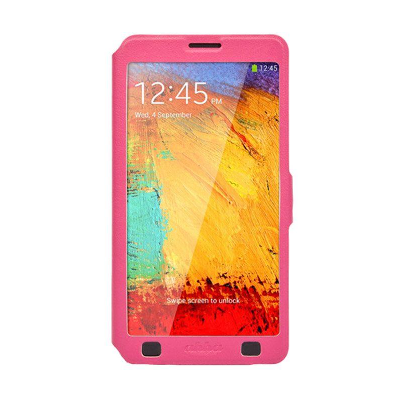 Ahha Arias Magic Fuchsia Flip Cover Casing for Galaxy Note 3