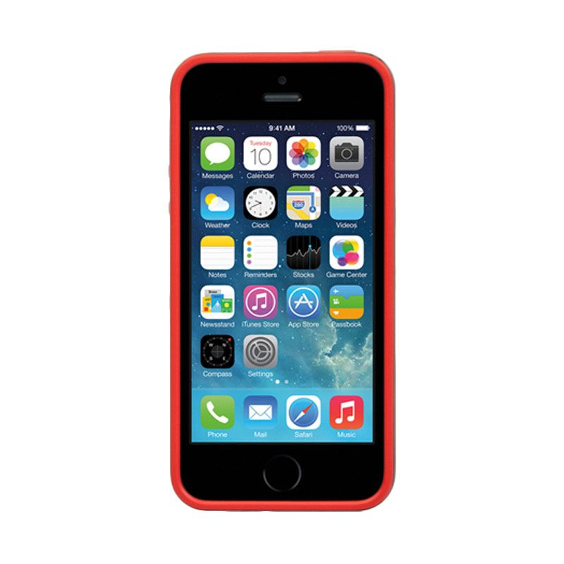 Ahha Joop Soft Bumper Red Black Casing for iPhone 5S