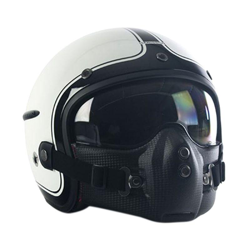 Corsair Harisson Noir Blanc Brillant Taille Helm Half Face