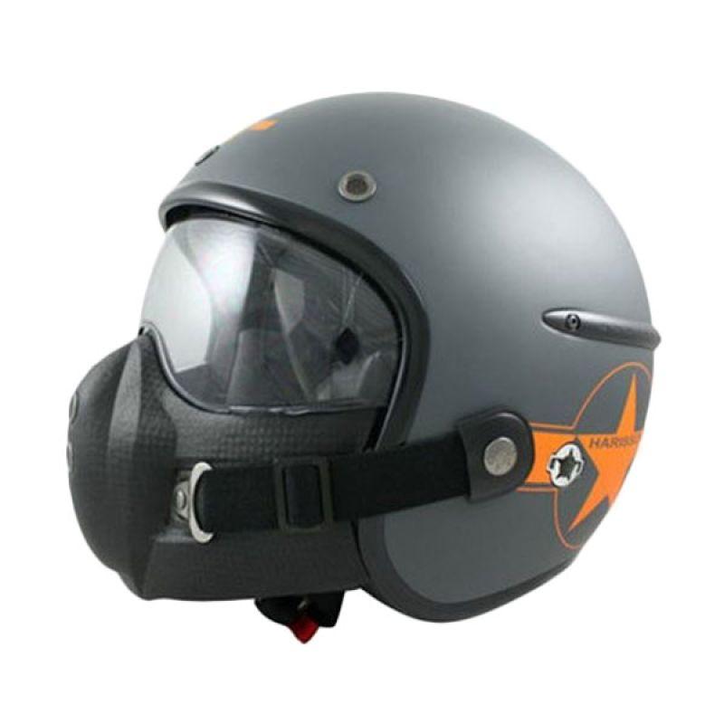 Corsair Harisson Star Deco Gris Mat Taille Orange Helm Half Face