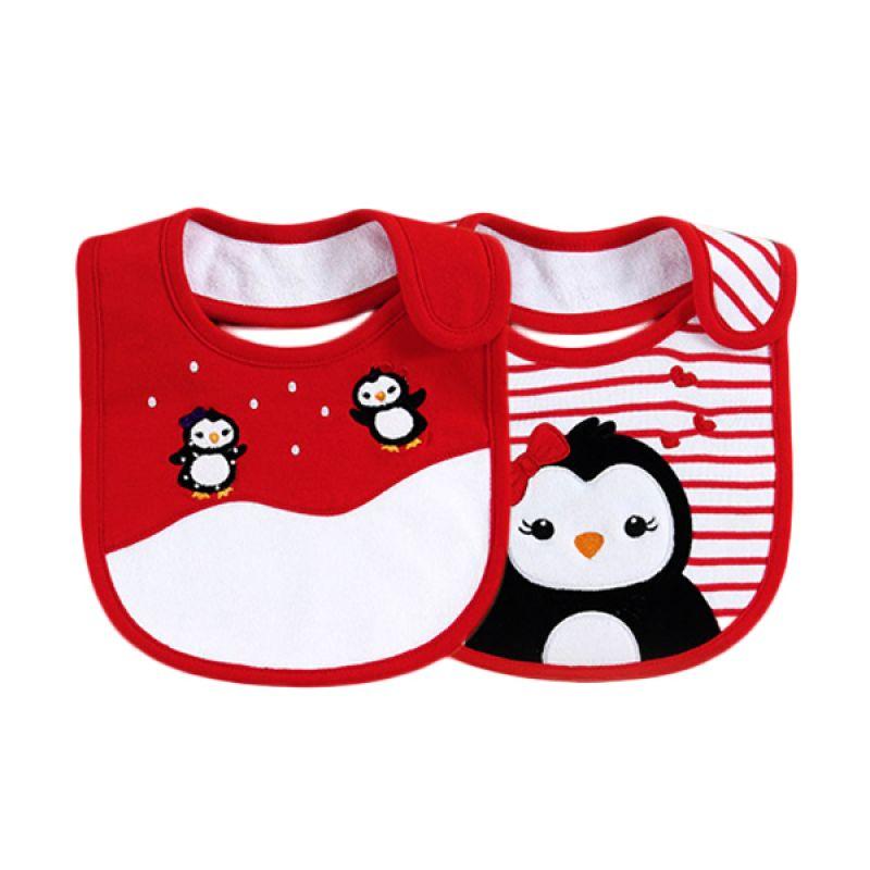 Mom N Bab Bibs Pingu Celemek Bayi [2 in 1]