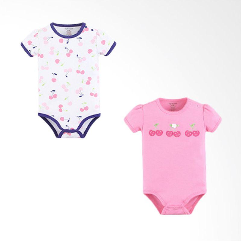 Mom n Bab Short Bodysuit Cherry Solid Jumpsuit Bayi [2 In 1]