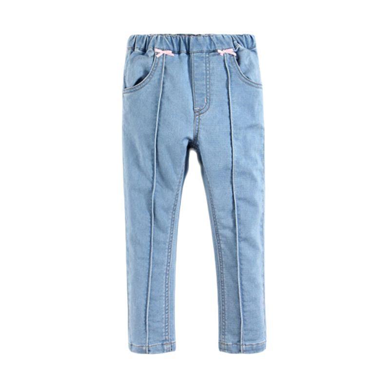Mom N Bab Stripe Blue Celana Jeans Anak Perempuan (4T)