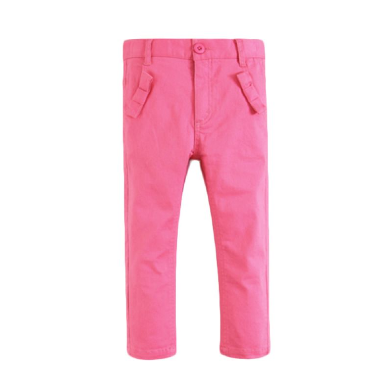 Mom N Bab Woven Pink Solid Celana Anak Perempuan