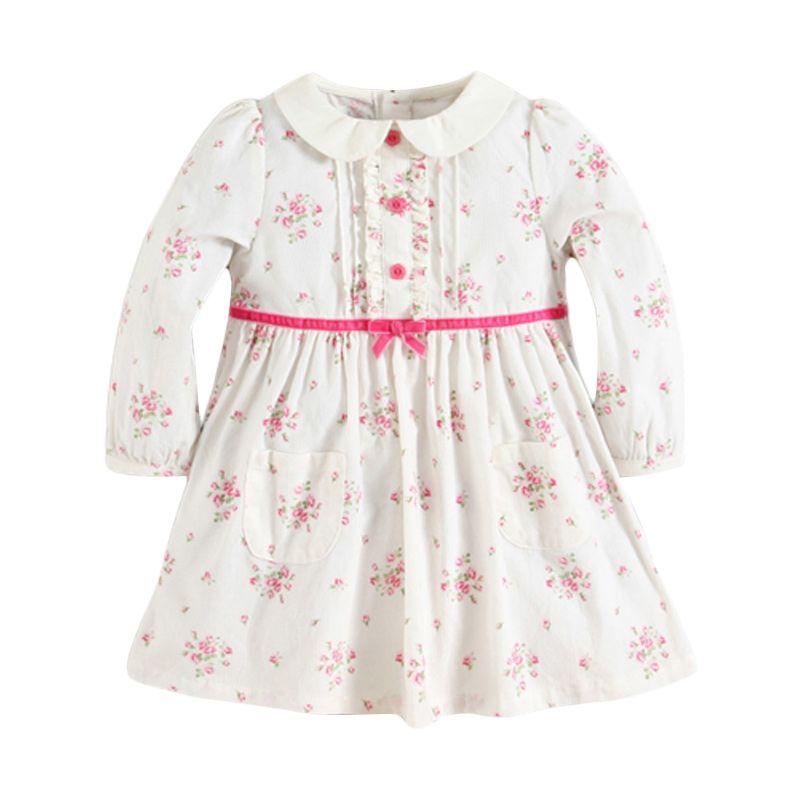 Mom N Bab Flower White Dress Anak (4T)