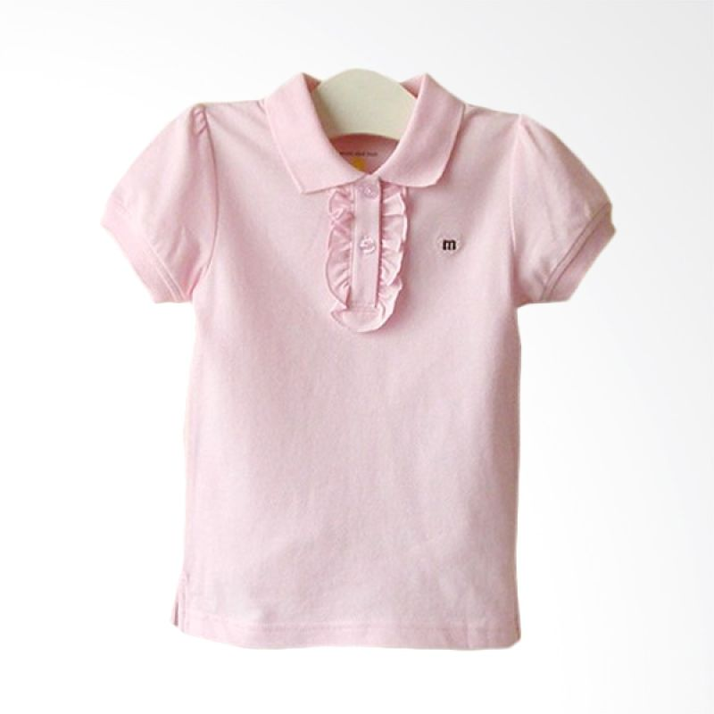 Mom N Bab Pique Shirt Pink Atasan Anak Perempuan