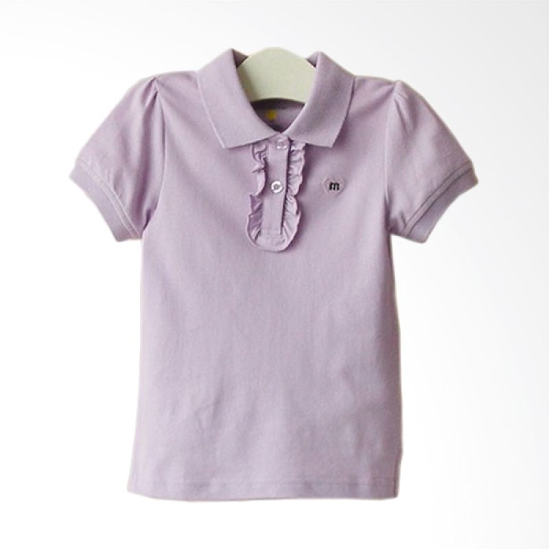 Mom N Bab Pique Shirt Purple Atasan Anak Perempuan