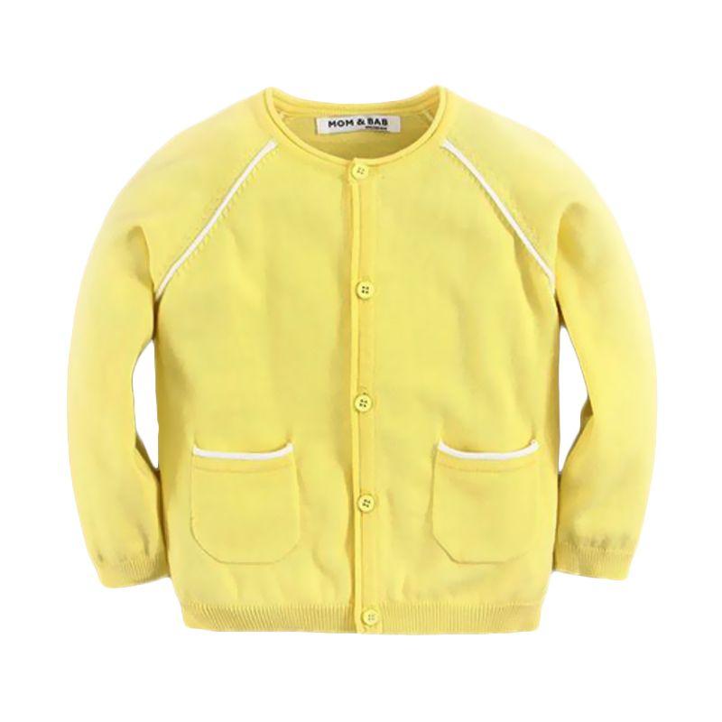 Mom N Bab Pocket Yellow Cardigan Anak Perempuan