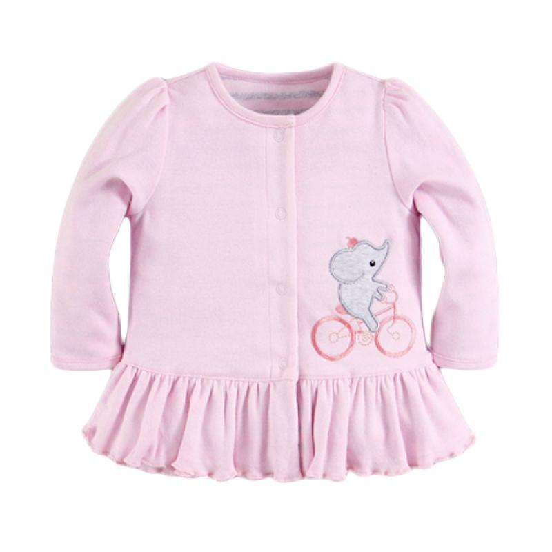 Mom N Bab Reversible Elephant Pink Jaket Anak Perempuan