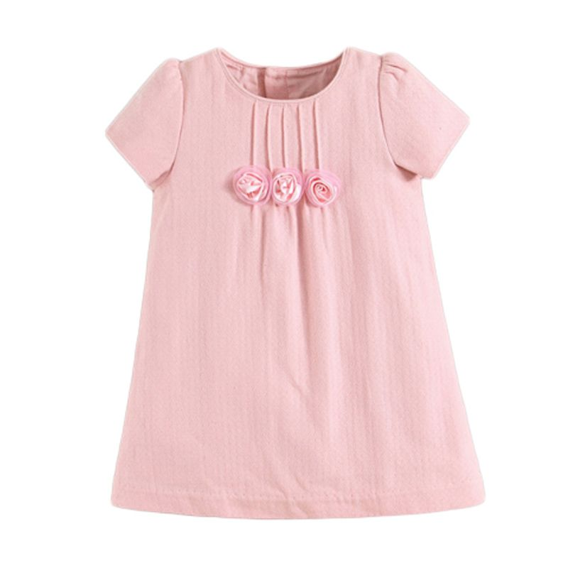 Mom N Bab Roses Pink Dress Anak