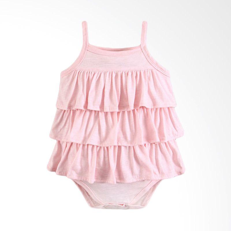 Mom N Bab Ruffle Pink Jumper Anak