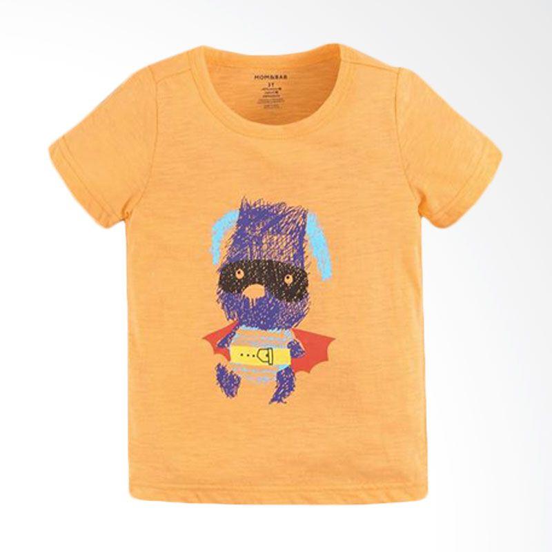 Mom N Bab Short Tee Kids Superhero Orange Atasan Anak Laki-Laki