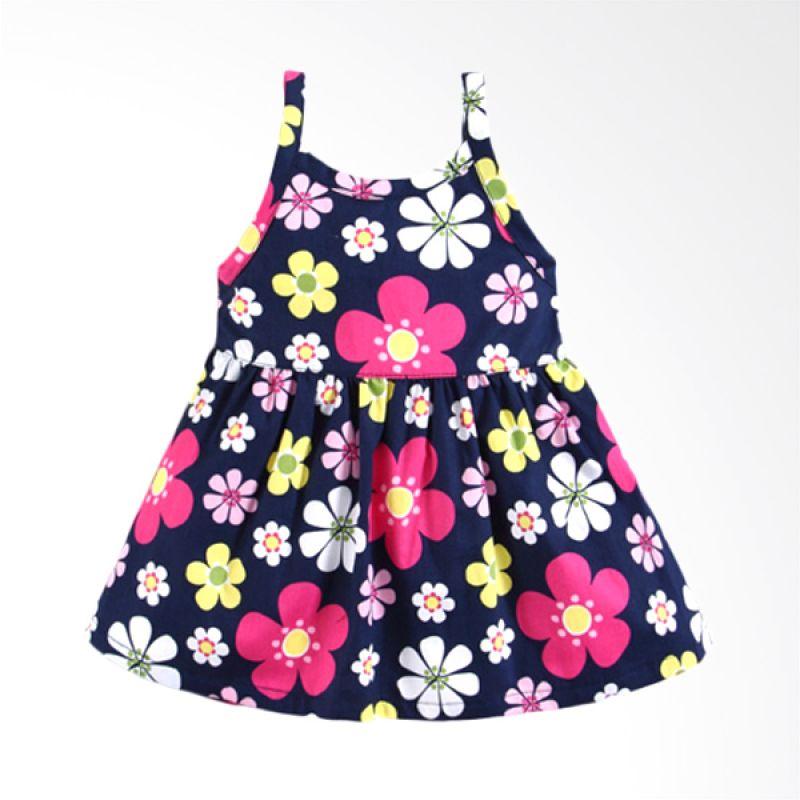 Mom N Bab Short Woven Flower Dress Anak Perempuan