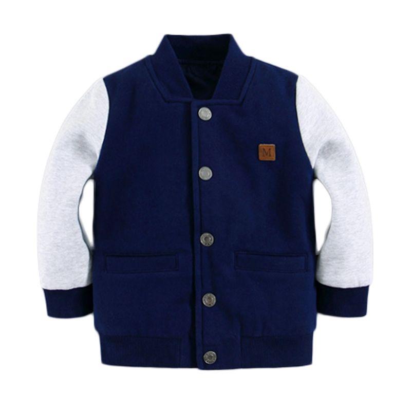 Mom N Bab Sleeve Blue White Jacket Anak Laki-Laki