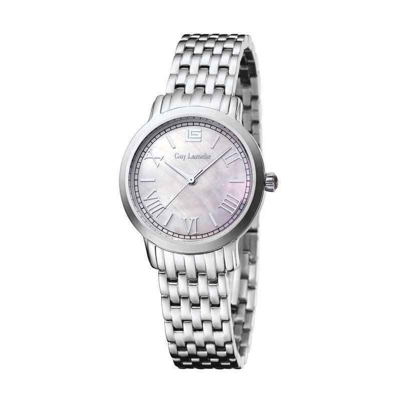 Guy Laroche Dignity L2012-01 Silver White Jam Tangan Wanita