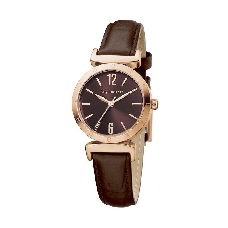 Guy Laroche Lady Watch L1008-03 Brown Jam Tangan Wanita