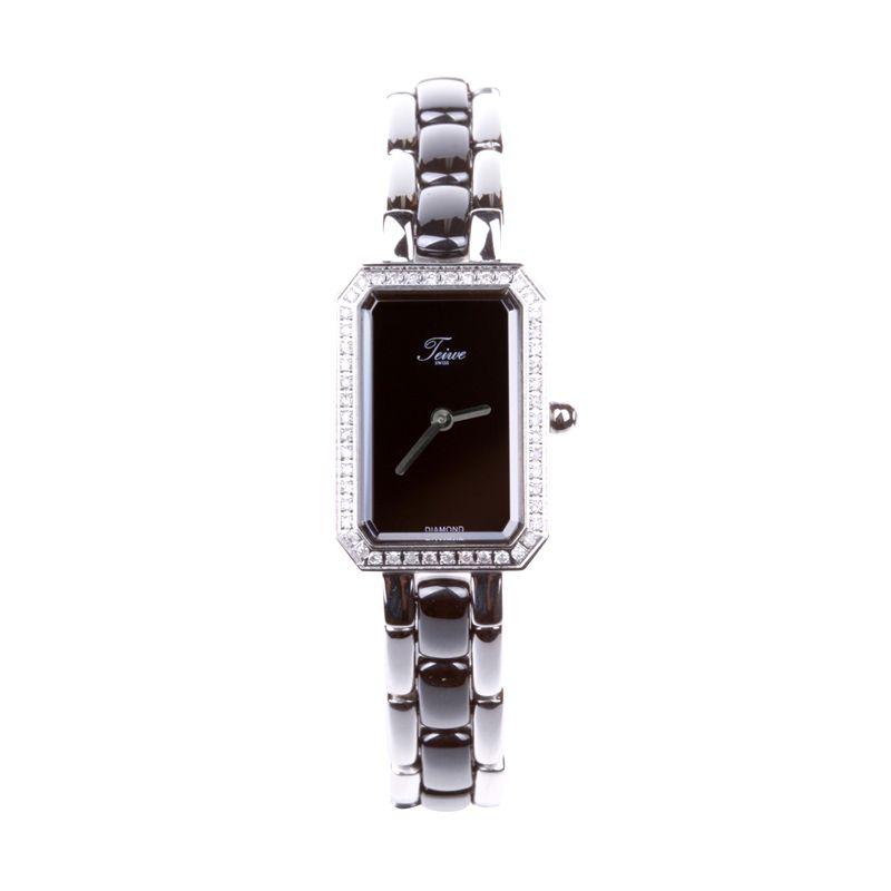 Teiwe Athena Swiss Premier Watch TW2972-B Shiny Black Jam Tangan Wanita