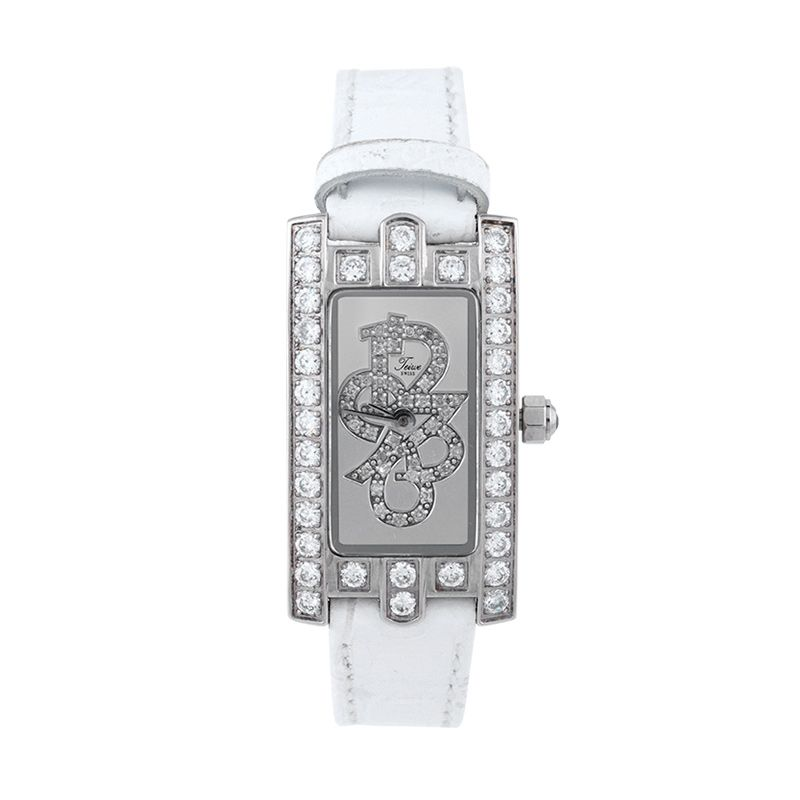 Teiwe Crown Stainless Steel White Leather Tw3065w-B