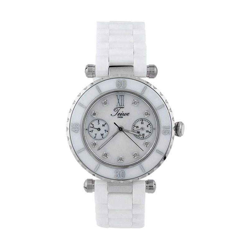 Teiwe Premier Watch TW5034W-B Pure White Jam Tangan Wanita
