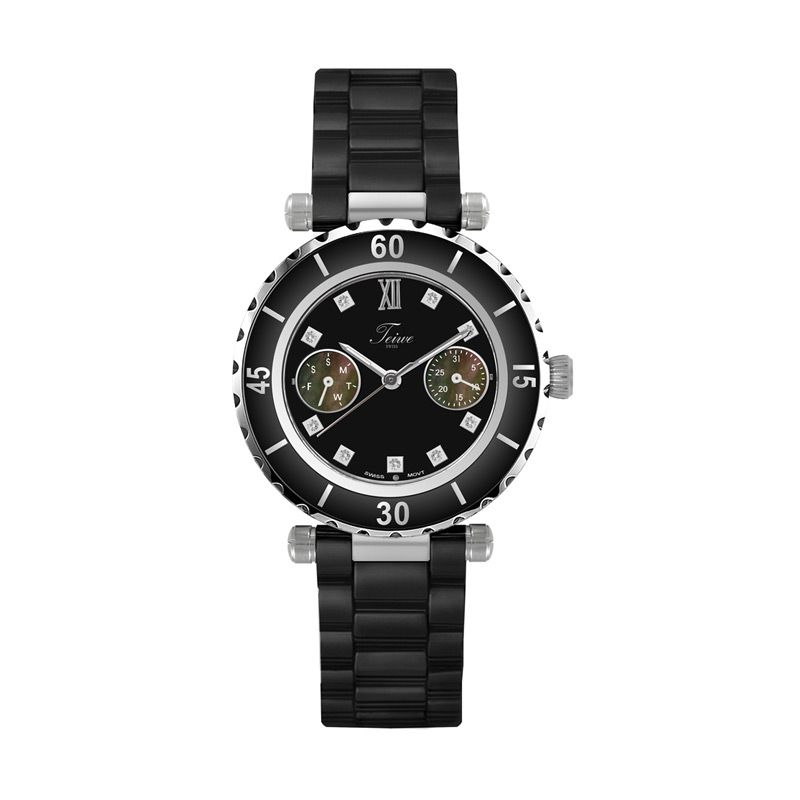 Teiwe Swiss Premier Watch TW5034B-B Pure Black Jam Tangan Wanita