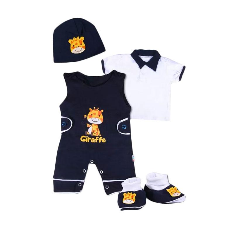 Momo Baby Gift Set Giraffe 11165 Set Pakaian Bayi - Biru Dongker