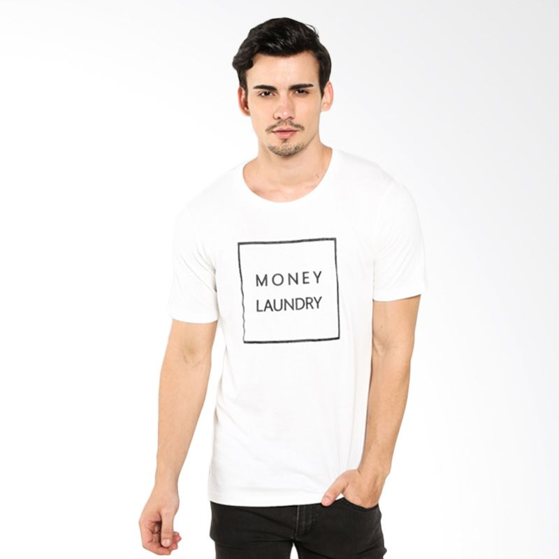 Money Laundry ML Square MLRYSSGTM0017 White Kaos Pria