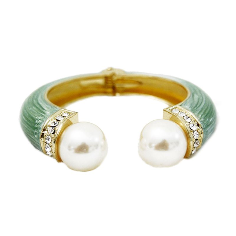 Mooi Accessories Ceramic with 2 Pearl Green Gelang