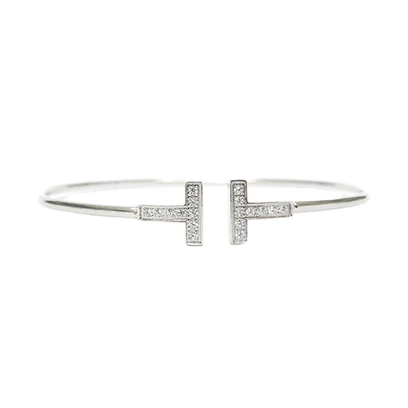 Mooi Accessories T Diamond Silver Gelang