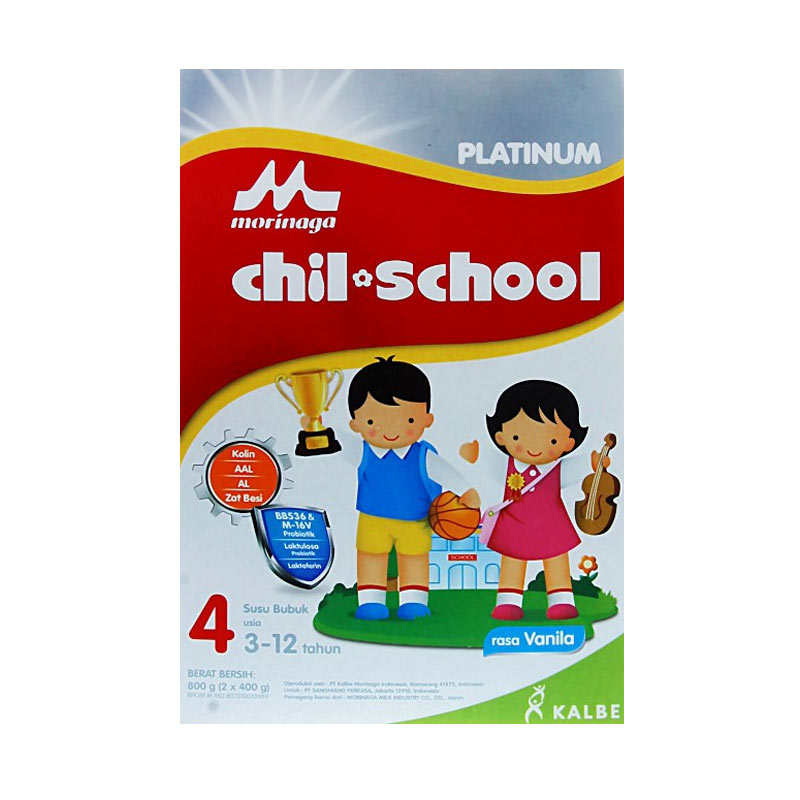 harga Morinaga Chilschool Platinum Susu formula - Vanilla [800 g] Blibli.com