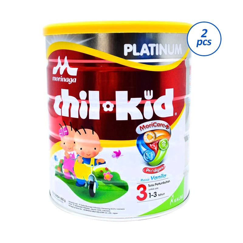 Morinaga Chil Kid Platinum Moricare+ Vanila Susu Formula [800 Gr - 2 Pcs]