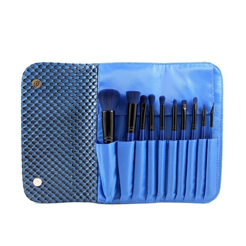 Morphe SET 695 10 Piece 3D Pattern Navy Blue Set