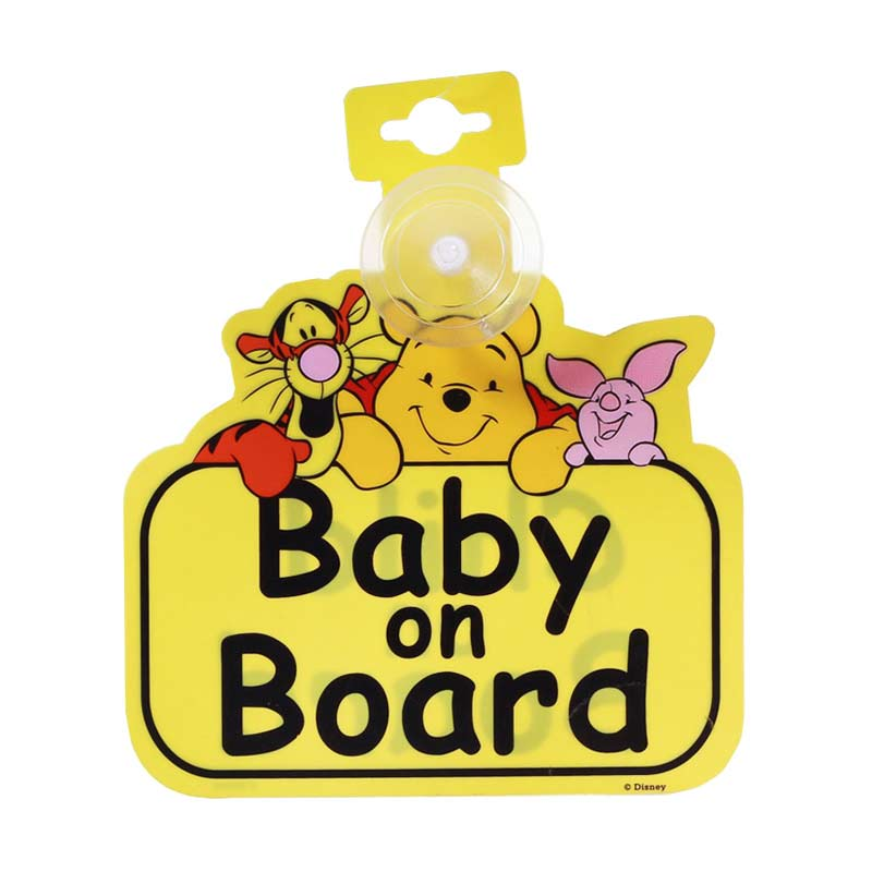 Mothercare Winnie The Pooh 537251 Baby On Board Sign - Multicolor
