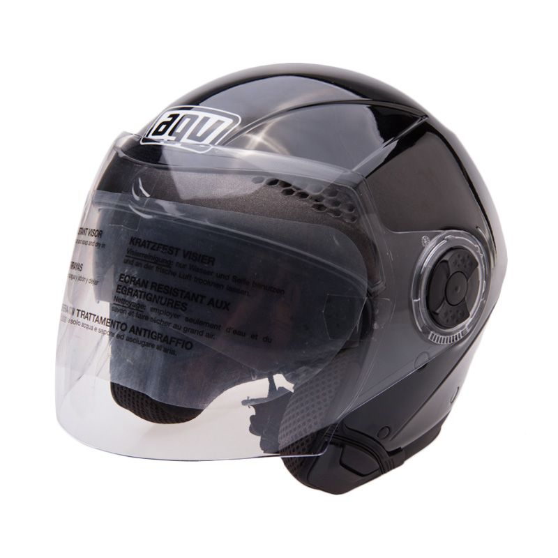 AGV City Light Solid BK Gloss Helm Open Face