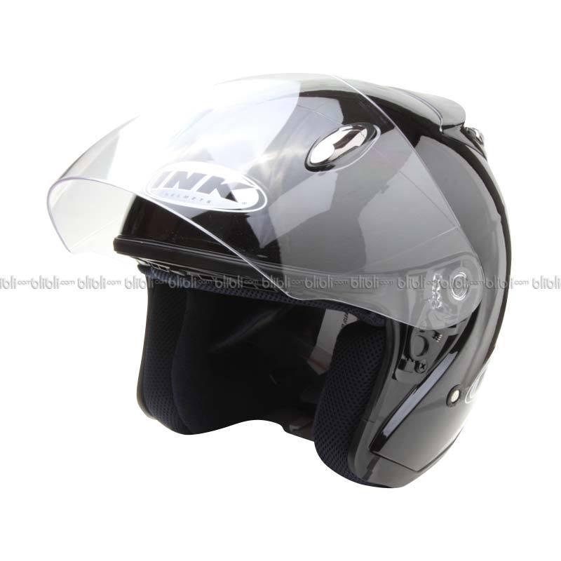 INK Centro Jet Solid-BK MET Helm Open Face