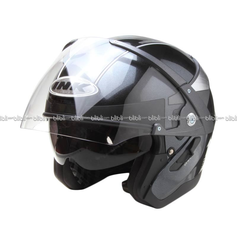 Jual INK Metalico Solid BK MET Helm Open Face Online