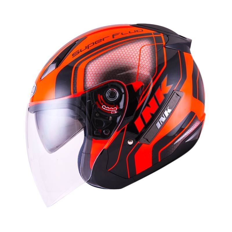 Jual INK Metro 2 Super Fluo Edition RD Fluo Black Helm