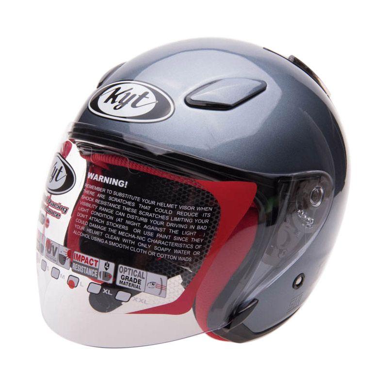 KYT Dj Maru Solid All Grey Helm Open Face