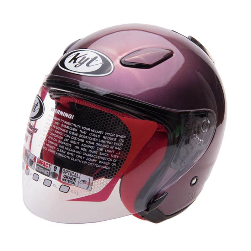 KYT Dj Maru Solid Deep Purple Helm Open Face