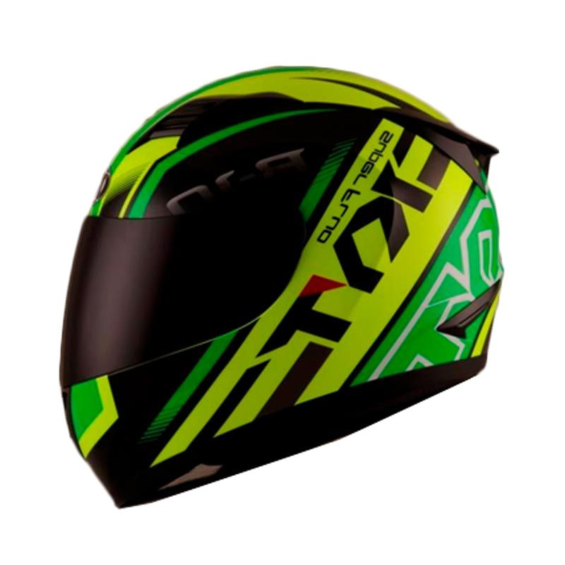 Jual KYT R10 Super Fluo Yellow Fluo Green Fluo Helm Full